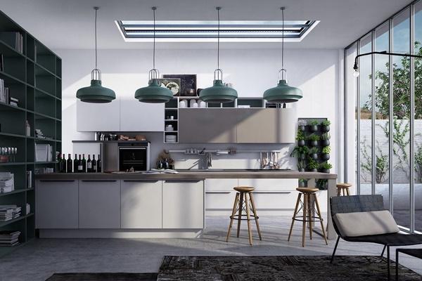 10 mẫu thiết kế nội thất nhà bếp ấn tượng với chủ đề hình học