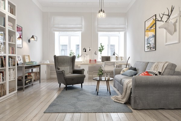 12 thiết kế phòng khách quyến rũ với phong cách Bắc Âu thanh lịch