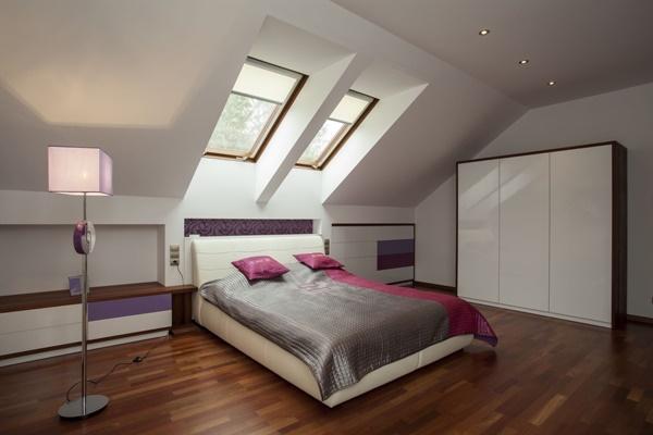 25 mẫu nội thất  phòng ngủ ấn tượng trên gác mái (Phần II)