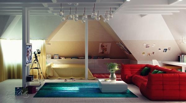 25 mẫu nội thất phòng ngủ ấn tượng cho nhà gác mái (Phần I)