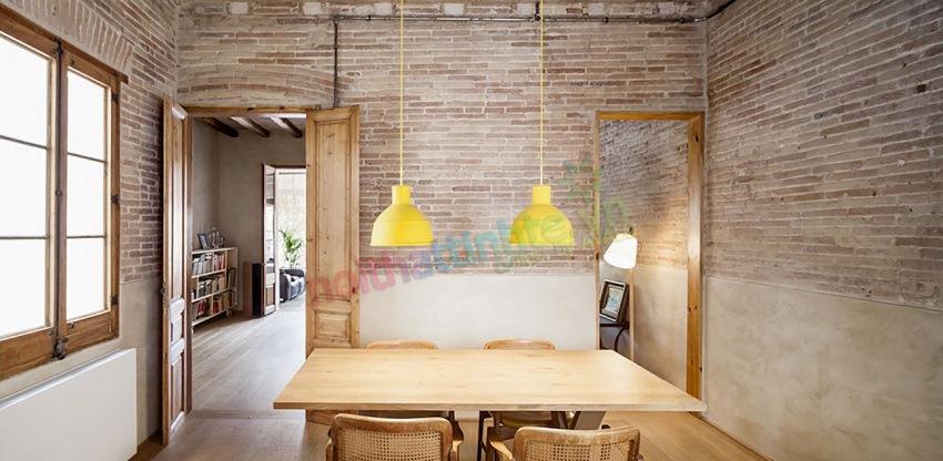 Thiết kế nội thất hiện đại sử dụng chất liệu mộc của văn phòng thiết kế DCDC