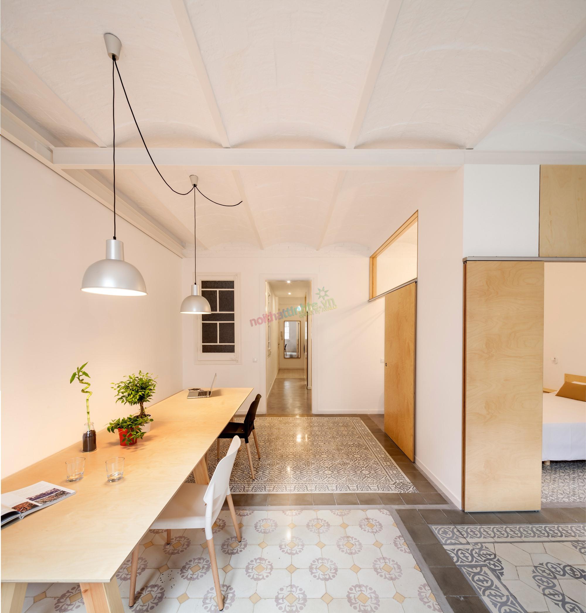 Thiết kế nội thất cải tạo căn hộ đẹp tại Provenca, thành phố Barcelona