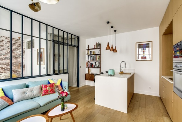 Cải tạo nội thất căn hộ 36m2 đẹp như mơ ở Paris