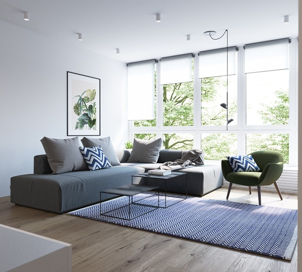 Căn hộ chung cư hiện đại với lối sắp xếp tối giản
