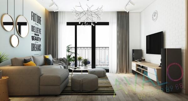 Thiết kế căn hộ Studio đẹp giản dị với phong cách Scandinavian