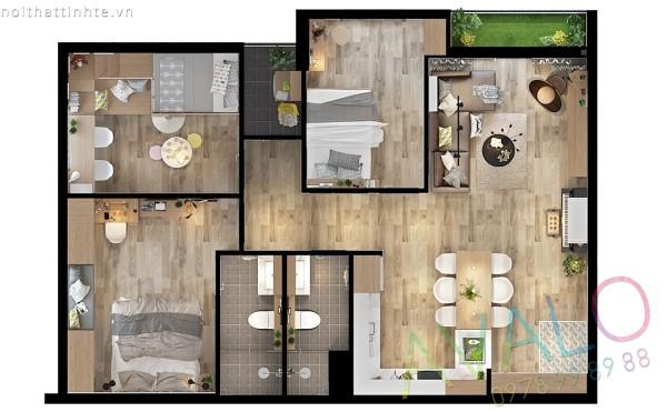 Nội thất căn hộ Green Star cuốn hút với phong cách Scandinavian