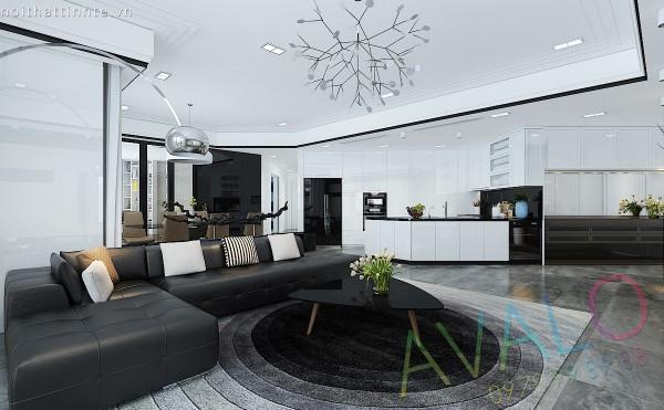 Căn hộ chung cư đẹp 4 phòng ngủ 200,8m2 ở Royal City