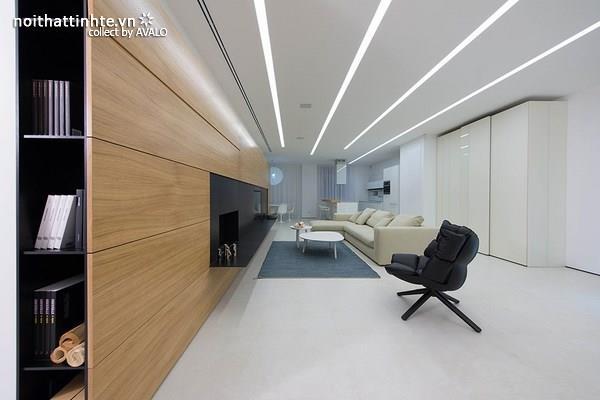 Căn hộ hiện đại với thiết kế chiếu sáng độc đáo