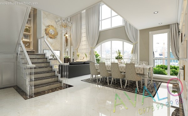 Thiết kế Châu Âu Tân Cổ điển của căn hộ Duplex Phú Mỹ Hưng