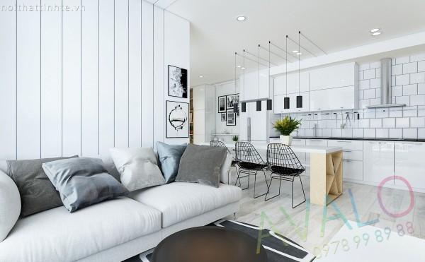 Thiết kế nội thất căn hộ Scandinavian nhỏ nhưng chất tại Imperia Garden