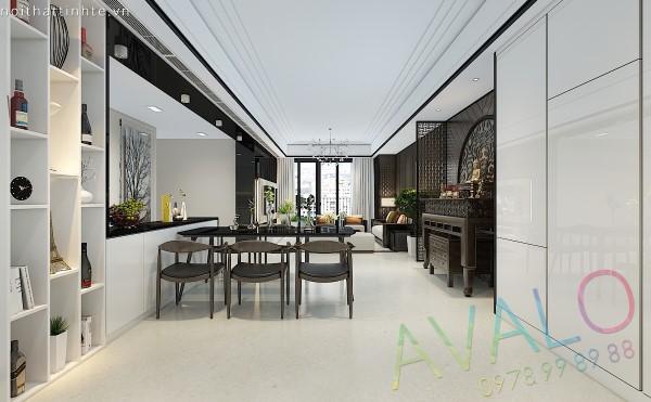 Thiết kế nội thất Đương Đại ấn tượng dành cho gia đình ba thế hệ