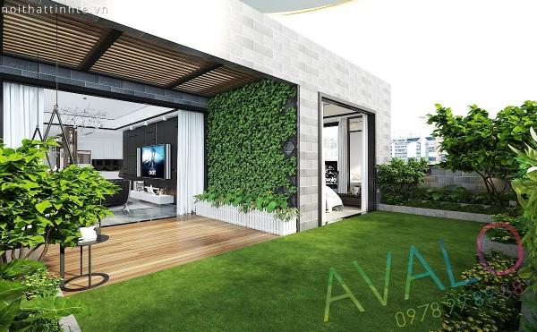 Không gian xanh vô giá trên căn hộ chung cư Long Biên