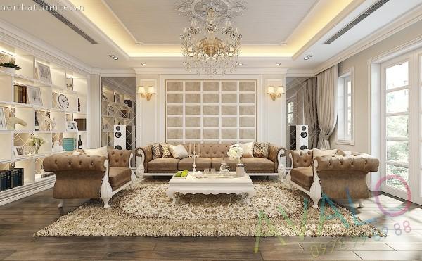 Thiết kế nội thất nhà phố Vạn Phúc phong cách Tân Cổ Điển