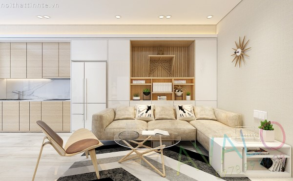 Nội thất căn hộ phong cách Mỹ tại Tràng An Complex