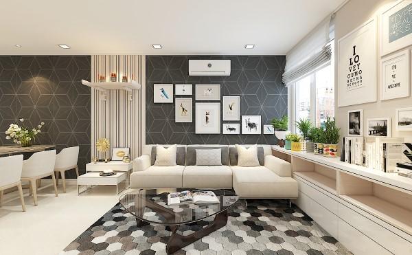 Thiết kế nội thất đơn giản mà tinh tế căn hộ 80m2 Gamuda