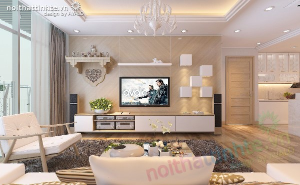 Nội thất chung cư hiện đại và trẻ trung cho gia đình hạnh phúc – Thăng Long No1 tòa B