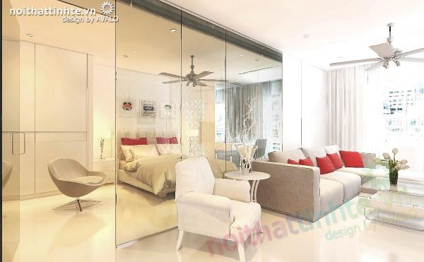 Nội thất chung cư skylight 125D Minh Khai đương đại trẻ trung