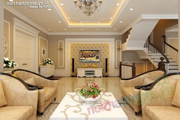 Phòng khách đẹp Tân Cổ Điển AvaloK-7