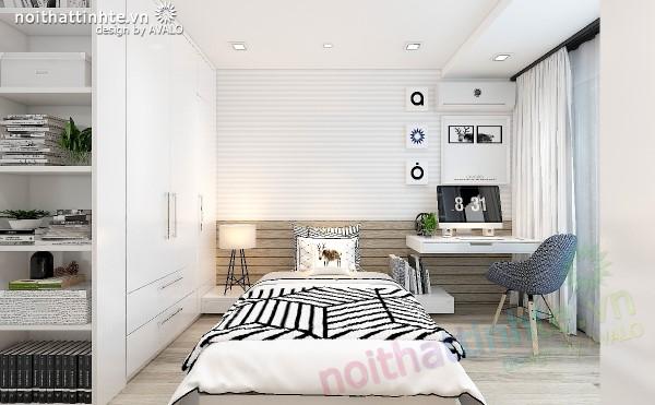 Phòng ngủ đẹp bố trí khoa học theo tông màu scandinavia part2