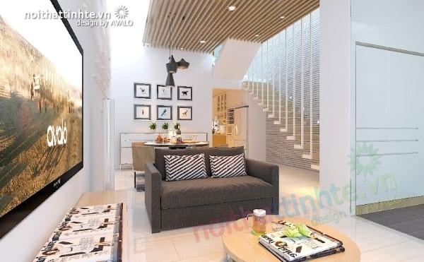 Phòng khách đẹp phong cách - nhà lô CL