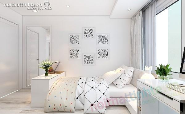 Phòng ngủ đẹp bố trí khoa học theo tông màu scandinavia part1