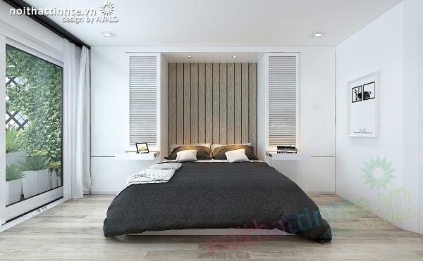 Phòng ngủ đẹp bố trí khoa học theo tông màu scandinavia part3