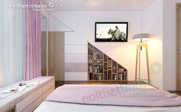 Phòng ngủ đẹp của con gái cá tính
