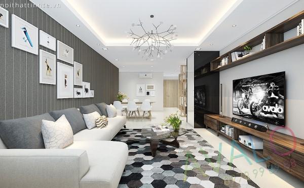 Phương án Thiết kế nội thất Hiện đại Thanh lịch cho căn hộ có diện tích nhỏ