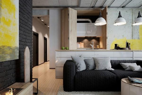 Thiết kế chung cư đẹp mang phong cách công nghiệp