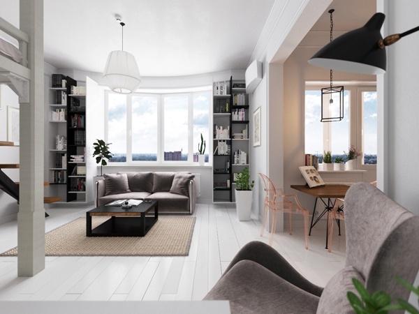 Thiết kế chung cư hiện đại với nhiều ánh sáng tự nhiên