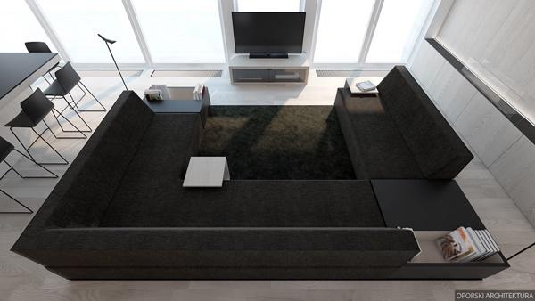 Thiết kế chung cư sang trọng với phong cách tối giản
