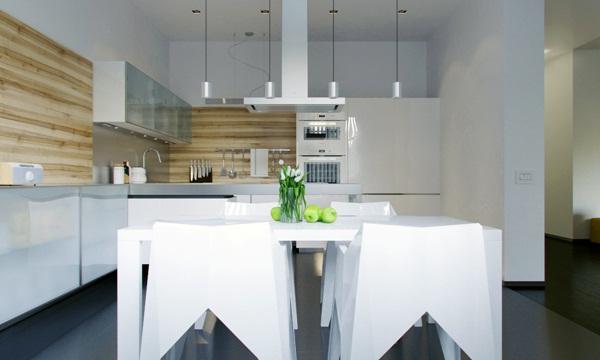 Thiết kế nội thất chung cư ấn tượng với phong cách tối giản và chủ đề hình học táo bạo