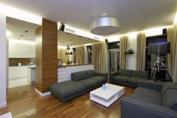 Thiết kế nội thất chung cư hiện đại và rộng rãi