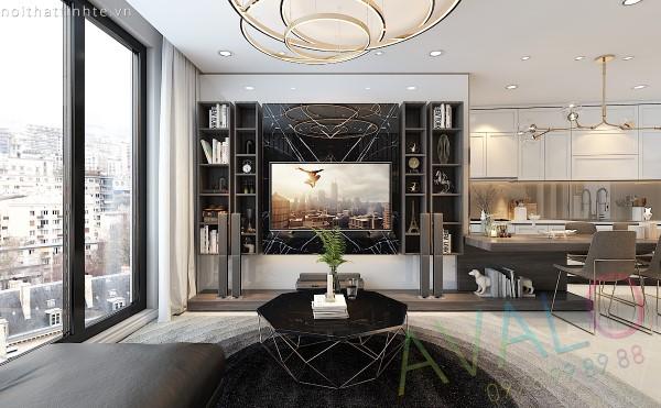 Thiết kế nội thất đẹp Mipec Riverside 115m2 mới nhất