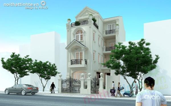 Thiết kế biệt thự phố cổ điển đẹp và đẳng cấp AVALO