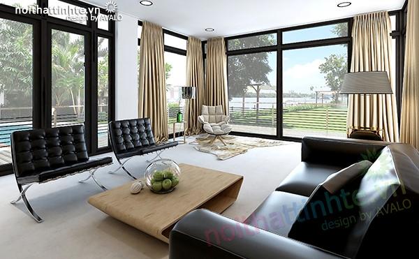 Thiết kế biệt thự Thảo điền phong cách nội thất Đương Đại Avalo