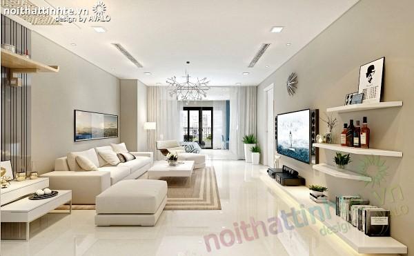 Thiết kế nội thất Royal City màu Be nhẹ nhàng và sang trọng