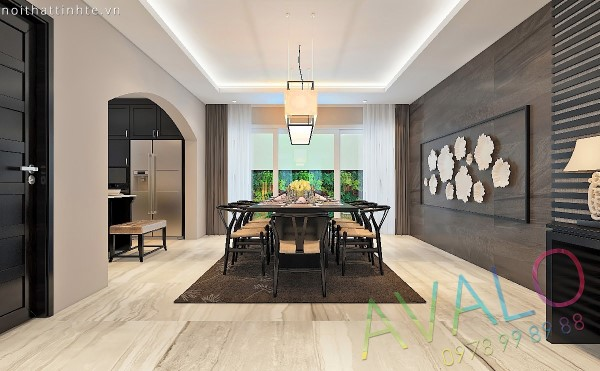 Thiết kế nội thất Biệt Thự Văn Phú phong cách Á Đông Đương Đại