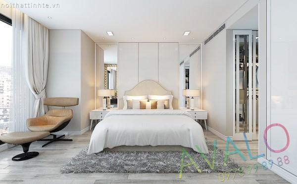 Thiết kế nội thất chung cư Royal City R3 157,1m2 anh Hà