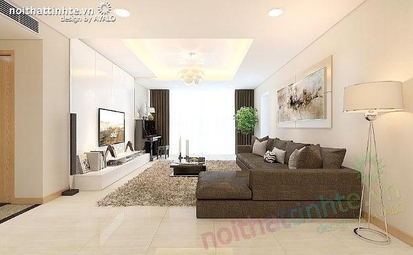 Thiết kế nội thất chung cư Thăng Long No1 A2101 - anh Hưng