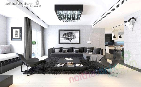 Thiết kế nội thất Hòa Bình Green City anh Kiên chị Thơ