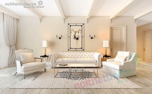 Thiết kế nội thất tân cổ điển Thăng Long No1 chị Hoa căn A12