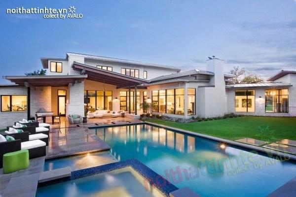 Biệt thự đẹp 2 tầng phong cách ngẫu hứng  Blanco