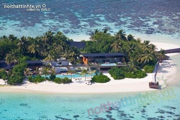 Biet thu dep nghi duong tren dao Coco – Maldives