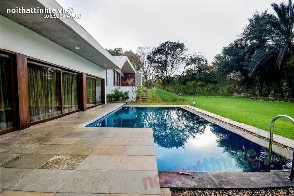 Biệt thự đẹp sang trọng và kết nối với thiên nhiên ở Ấn Độ