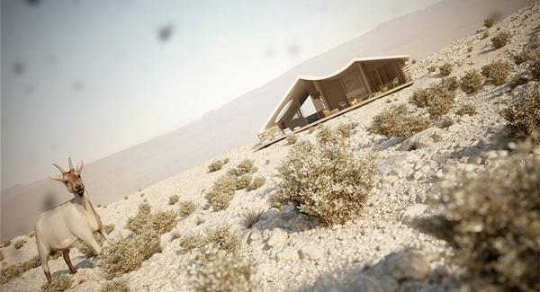Biệt thự nghỉ dưỡng sang trọng trên sa mạc