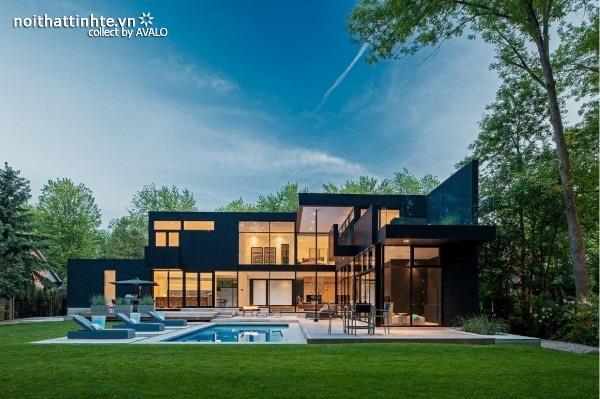 Biệt thự đẹp 2 tầng với kiến trúc ấn tượng