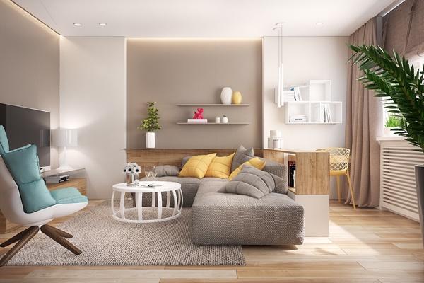 Thiết kế bố cục thông minh cho nhà nhỏ thêm rộng rãi