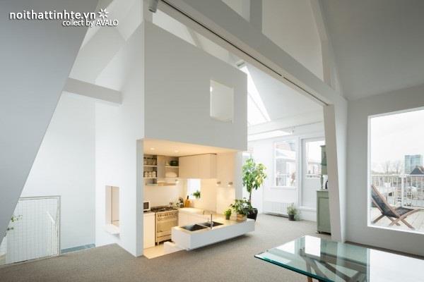 Cải tạo chung cư đẹp với tràn ngập ánh nắng mặt trời