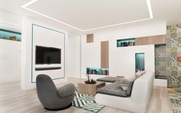 Mẫu thiết kế căn hộ 50m2 rộng rãi cho gia đình trẻ hạnh phúc